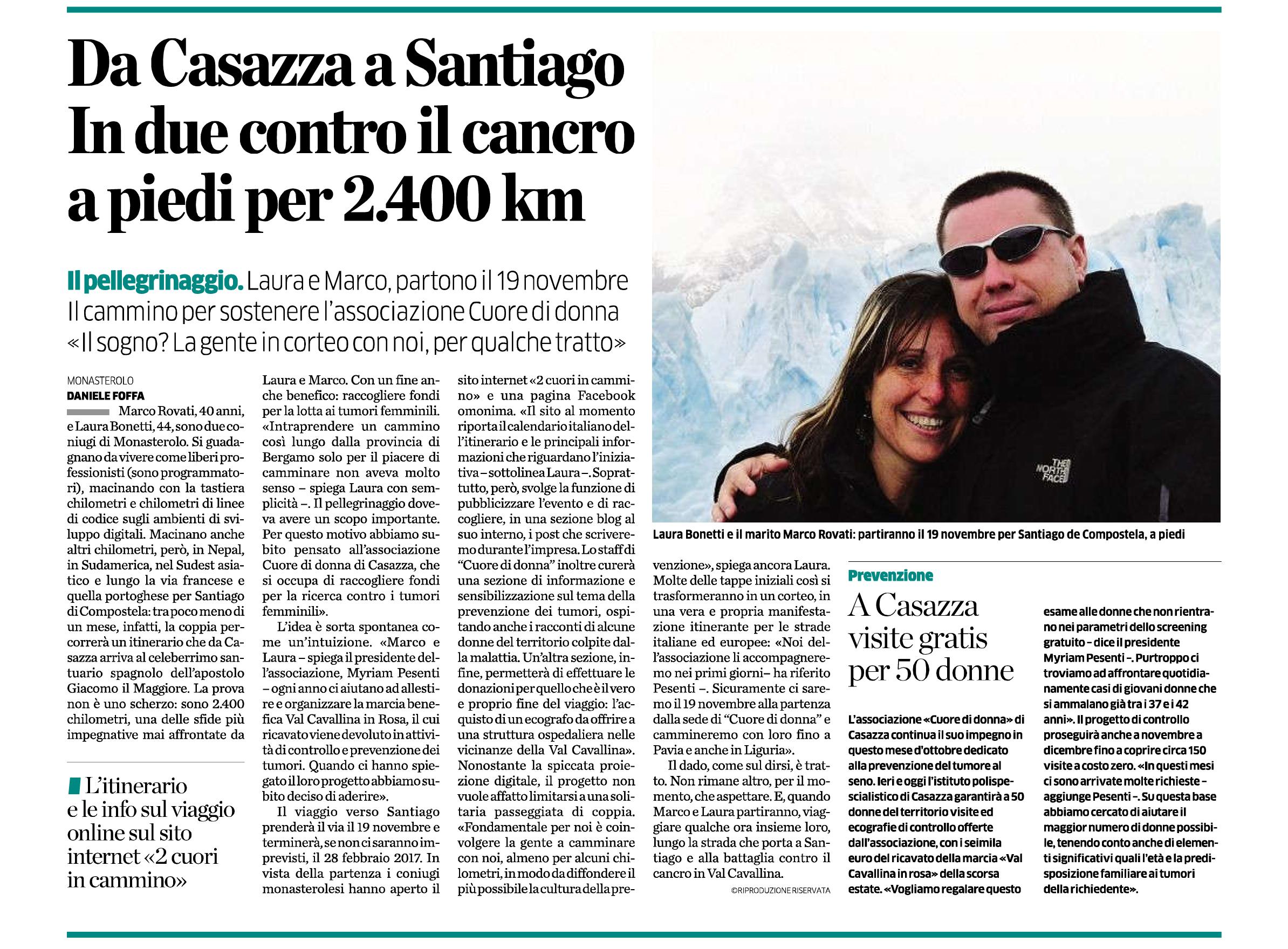 Intervista con Eco di Bergamo