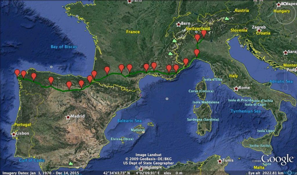 """Itinerario completo """"2 Cuori in Cammino"""""""