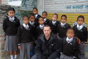 Nepal, con i bambini dell'orfanotrofio di Kathmandu