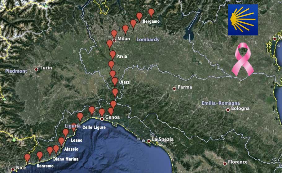 Tappe Italiane del Cammino