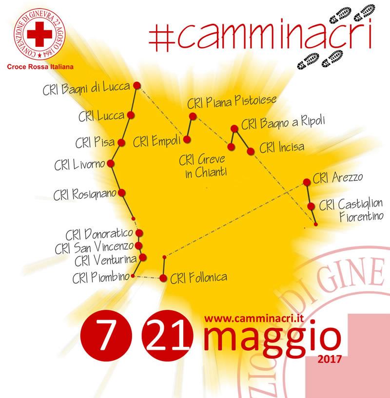 Itinerario di CamminaCRI